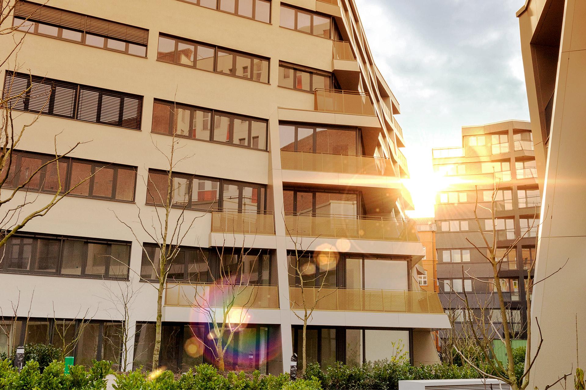 Architektur der Gebäudekomplexe B und C