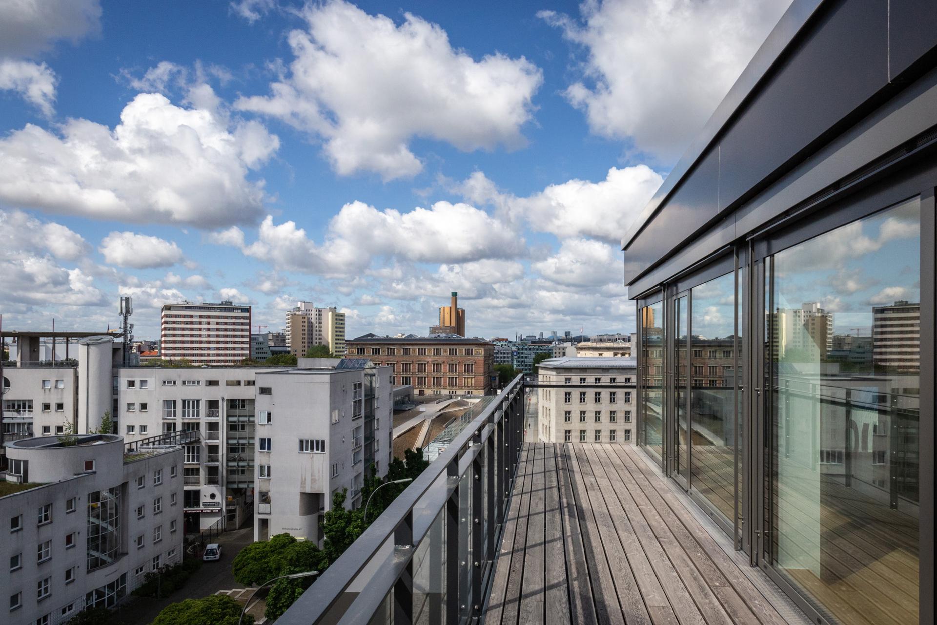 Aussicht vom Balkon Haus A