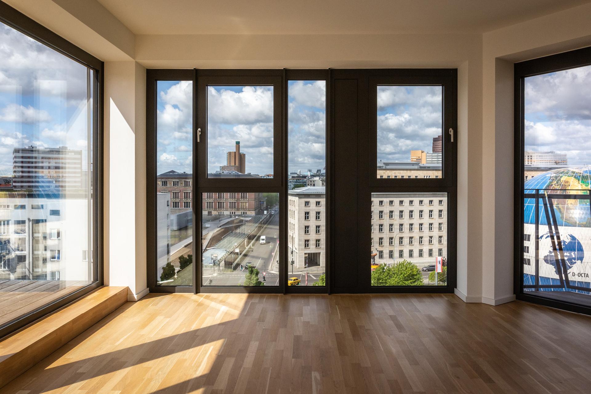 Ausblick aus Wohnung Haus A