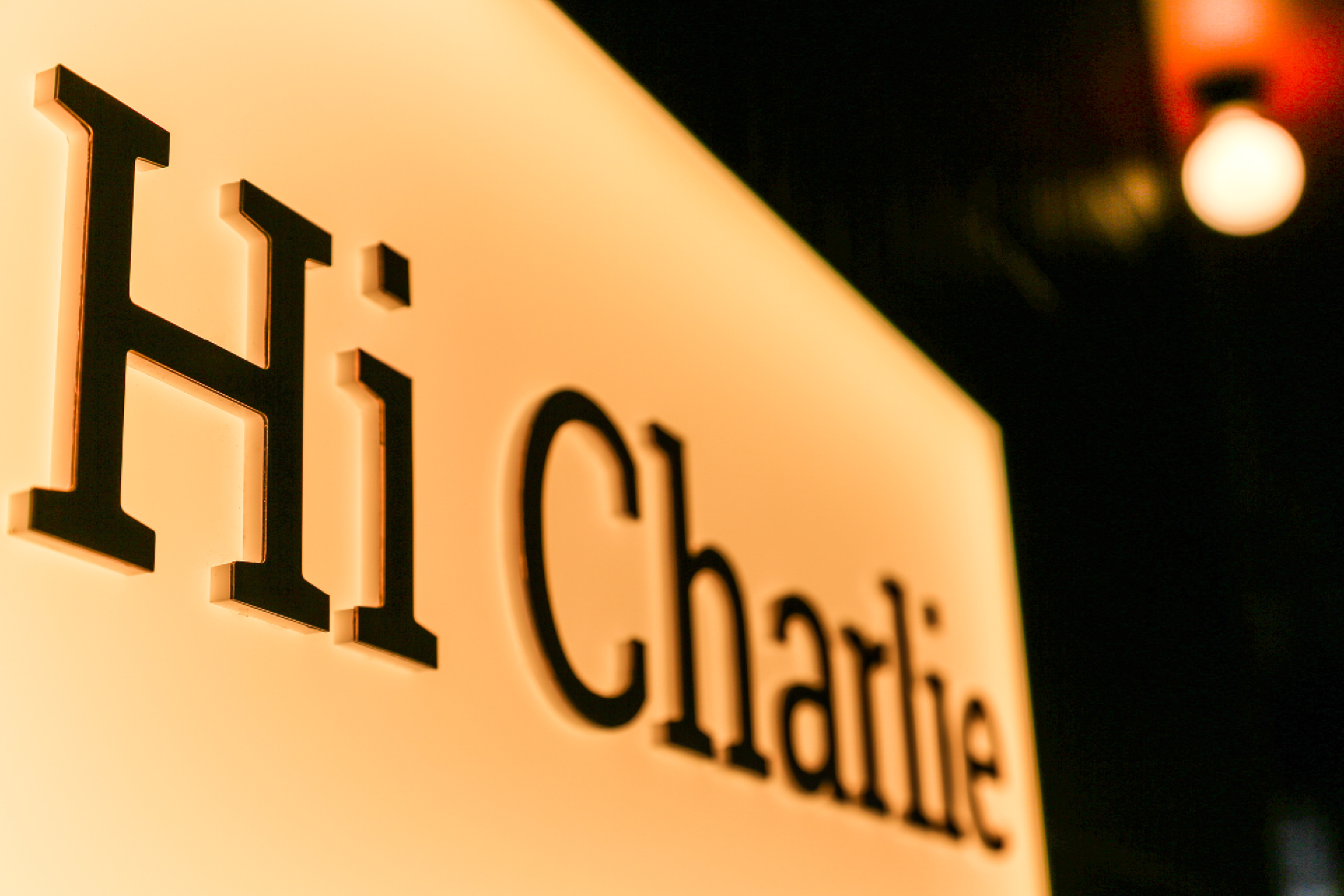Hi Charlie Poster